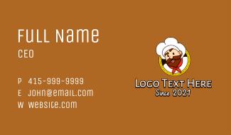 Gourmet Chef Mascot  Business Card
