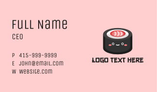 Sushi Roll Snack Business Card
