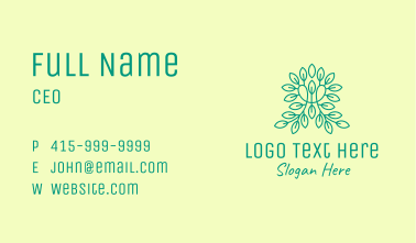 Leafy Green Letter M  Business Card
