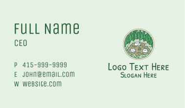 Campsite Forest Business Card