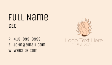 Woman Skin Care  Business Card