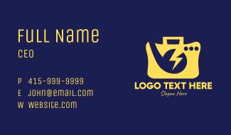 Yellow Voltage Radio Business Card