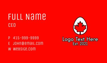 Maple Leaf Egg  Business Card
