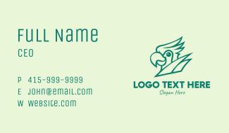 Green Parrot Mascot Business Card
