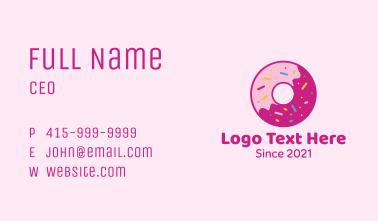 Yummy Sprinkled Doughnut Business Card