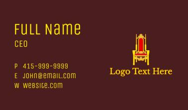 Royal Throne Chair  Business Card