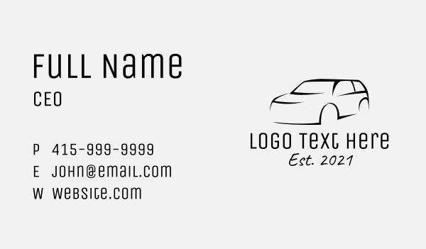 suv - Black SUV Car Business card horizontal design