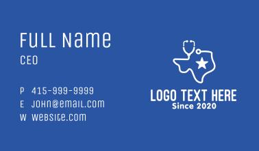 Texas Medical Hospital Business Card