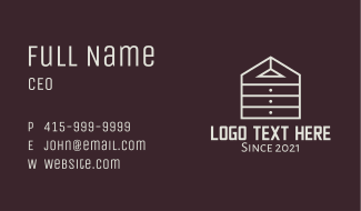 Cabinet Home Furniture  Business Card