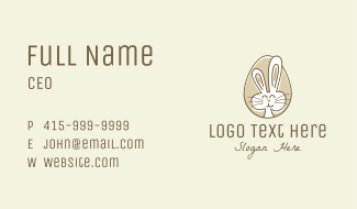 Bunny Rabbit Egg Business Card