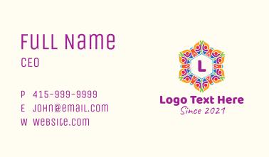 Festive Flower Letter Business Card