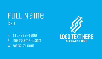Digital Cyber Circuit Business Card