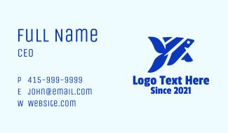 Blue Angelfish Business Card