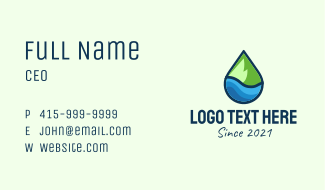 Nature Droplet Business Card