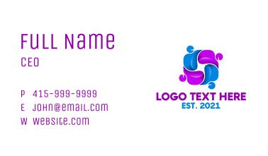 Modern Organization Business Card