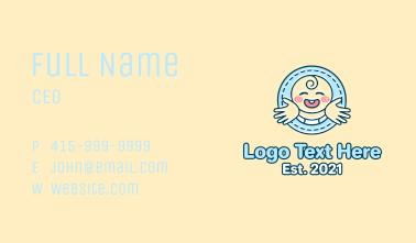 Baby Hug Mascot Business Card