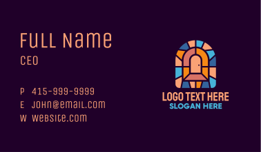 Door Entrance Stained Glass Business Card