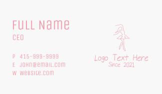 Pink Ballet Dancer Business Card
