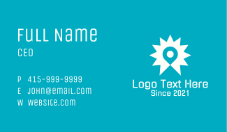 Location Pin Star Business Card