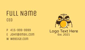 Musician Drum Set  Business Card
