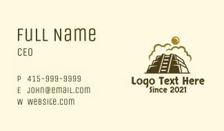 Sun Mayan Pyramid Business Card