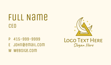 Crescent Moon Triangle  Business Card