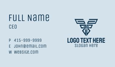 Mechanical Letter V Business Card