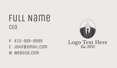 Classic Men Suit Business Card