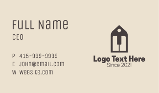 Piano Instrument Tag Business Card