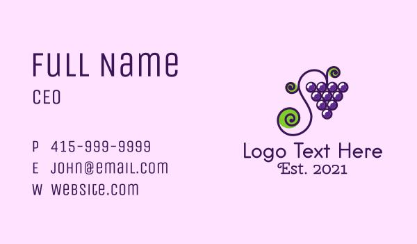 grapevine - Grapevine Fruit  Business card horizontal design