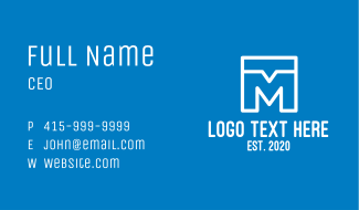 Chat Letter M Business Card