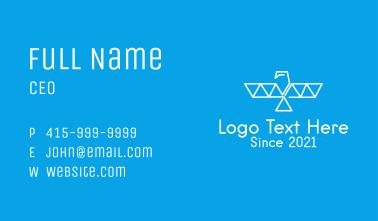 Geometric Outline Eagle  Business Card