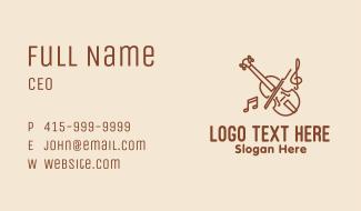 Violin Classic Music Business Card