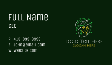 Neon Mother Nature Business Card