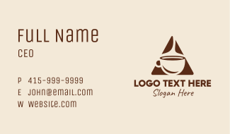 Triangle Hot Coffee  Business Card