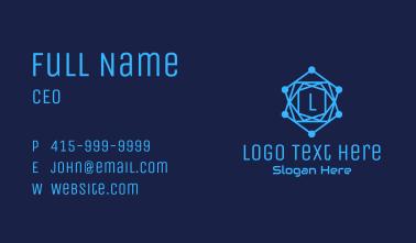 Digital Circuit Letter Business Card