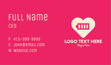 Full Charge Heart Business Card
