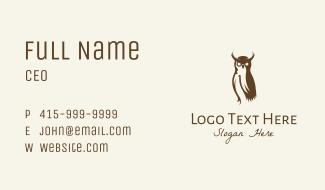 Brown Owl Bird Business Card