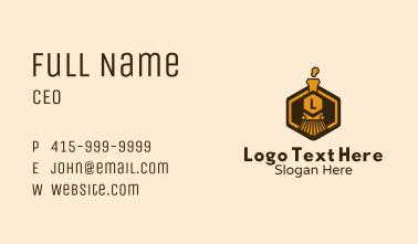 Train Badge Lettermark Business Card