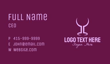 Purple Wine Glass Bar Business Card