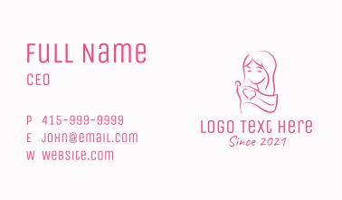 Pink Feminine Flag Woman Business Card