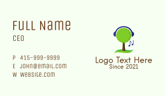 Tree Music Streaming Business Card