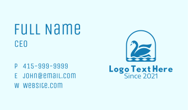 Blue Goose Emblem Business Card