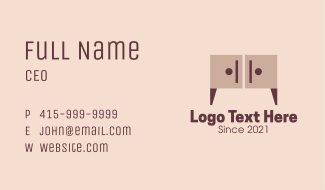 Wooden Cabinet Furniture Business Card