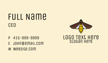 Flying Wasp Business Card