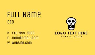 Skull Camera Photographer Business Card