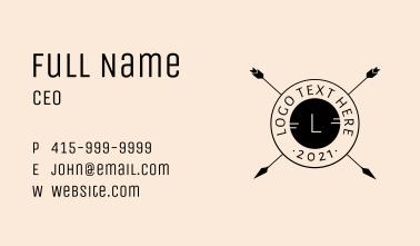 Bohemian Arrow Seal Letter  Business Card