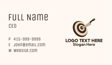 Knife Target Business Card