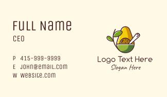 Organic Avocado Bowl Business Card