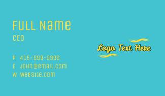 Cool Summer Script Business Card
